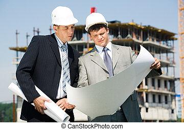 architecte, ouvrier