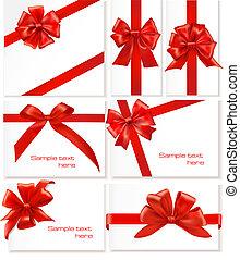 arcs, ribbons., ensemble, cadeau, grand