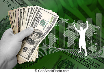 argent, business, reussite
