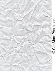 arrière-plan., papier chiffonné, blanc, texture