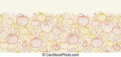 art, vertical, modèle, thanksgiving, seamless, fond, pumkins, ligne