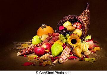 automne, corne abondance