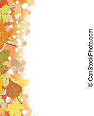 automne, template., fond