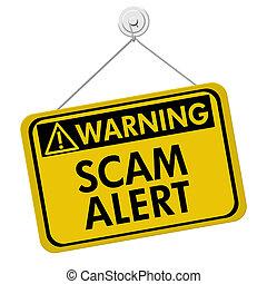 avertissement, scam, alerte