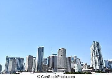 bâtiment, amérique, moderne, miami, ville, usa, floride