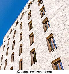 bâtiment, appartement, construction., extérieur, sous