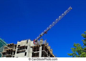 bâtiment, appartement, construction