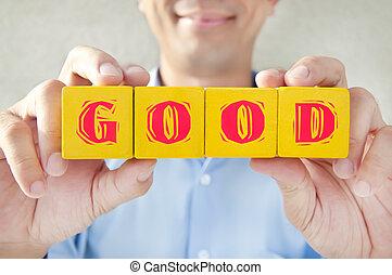 bâtiment, bon, blocs, très, exprès, signification, prise, vendeur, heureux