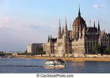 bâtiment, budapest, parlement, hongrois