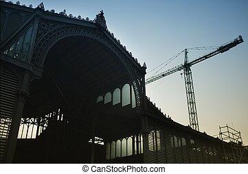 bâtiment, el, marché, né, barcelone
