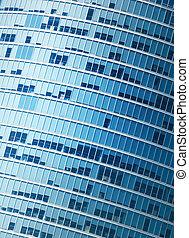 bâtiment, fragment, moderne, bureau