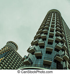 bâtiment, grand plan, bureau