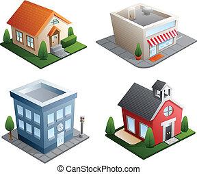 bâtiment, illustrations