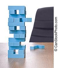bâtiment, jeu, bloc