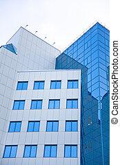 bâtiment, moderne, bureau