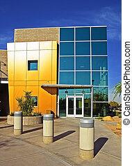 bâtiment, moderne, commercial