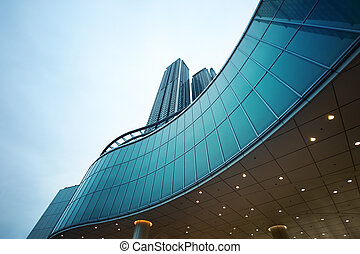 bâtiment, moderne, vue