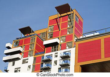 bâtiment, nouveau, appartement