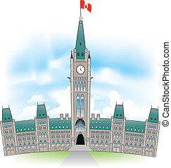 bâtiment, parlement, canadien