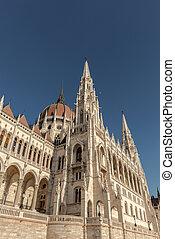 bâtiment, parlement, hongrois