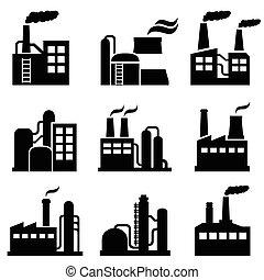 bâtiment, plante, industriel, puissance