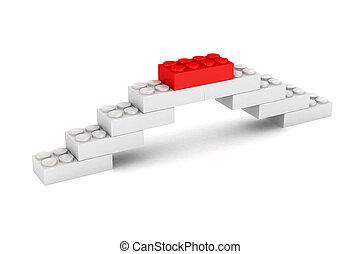 bâtiment, pont, bloc