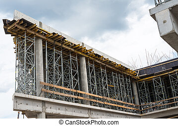 bâtiment, site., construction, nouveau, cadre