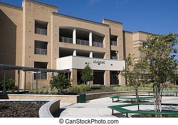 bâtiment, universitaire, floride
