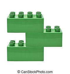 bâtiment, vert, bloc