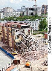 bâtiment, ville, construction, démolition, nouveau