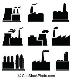bâtiments, industriel, usine