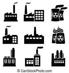 bâtiments, industriel, usines