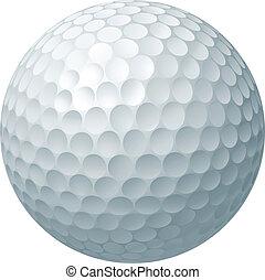 balle, golf, illustration