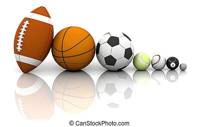 balles, sports