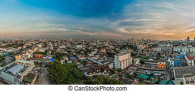 bangkok, aérien, vue ville