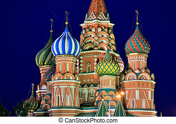 basilics, saint, russie, cathédrale, moscou