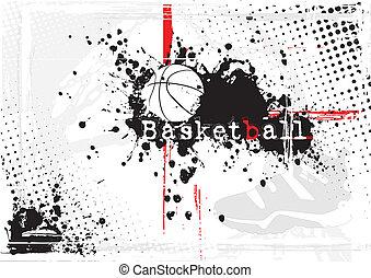 basket-ball, sale, fond