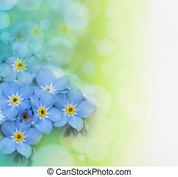 beau, floral, fond