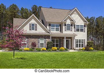 beau, maison, récemment, moderne, constructed