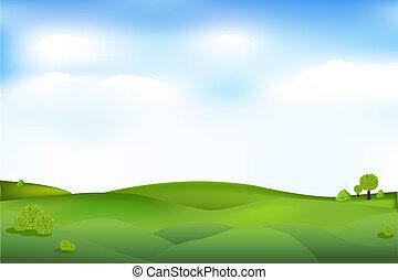 beau, paysage