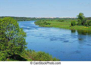 belarus, rivière, dvina, occidental