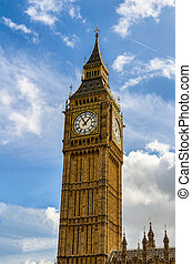 ben, londres, grand, uk., londres, vue, populaire, repère, tour horloge, ben., connu