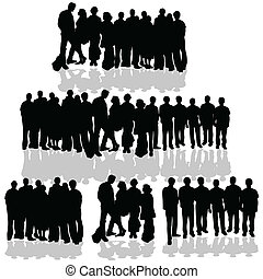 blanc, groupe, gens