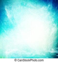 bleu, beau, turquoise, grunge, ciel, texture, fond