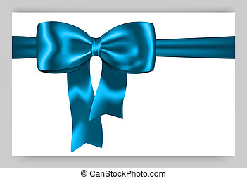 bleu, cadeau, ruban
