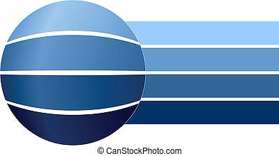 bleu, diagramme, business, vide