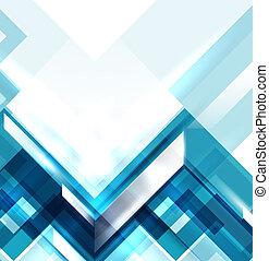 bleu, géométrique, moderne, résumé, fond