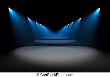 bleu, illumination