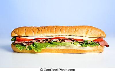 bleu, sandwich