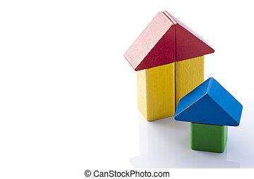 bloc, maison, bâtiment